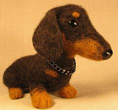 Needle felted Doxie.  Needle felting is goinng to be my next hobby.  Because I need more projects.