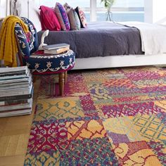 Flor Carpet Tile Square Easy to Install! Chakra in Magenta Color! So pretty and colorful! :D