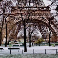 Paris in the snow!