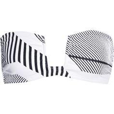 Prism Santa Margarita bandeau bikini top ($160) ❤ liked on Polyvore featuring swimwear, bikinis, bikini tops, white, white swim top, white bikinis, white bandeau top, swim suit tops and bandeau tops