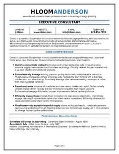find this pin and more on your resume or cv lots of free resume templates - Executive Resume Templates Free