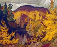 Quality print by Group Of Seven artist A. Casson - Autumn On The York; Available framed, giclee canvas. Made In Canada. Group Of Seven Artists, Group Of Seven Paintings, Tom Thomson, Emily Carr, Canadian Painters, Canadian Artists, Landscape Art, Landscape Paintings, Watercolor Paintings