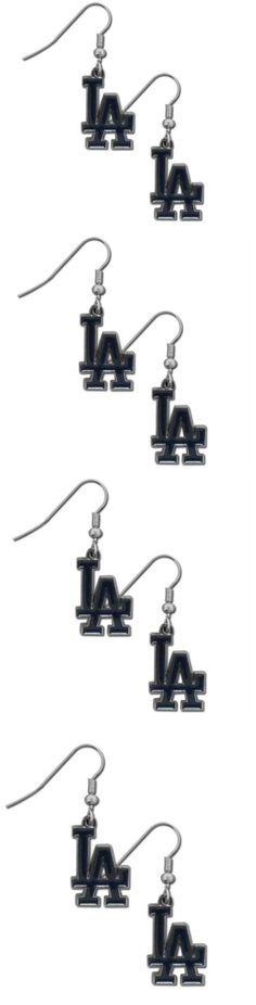 Los Angeles Dodgers Chrome Dangle Earrings! Click The Image To Buy It Now or Tag Someone You Want To Buy This For. #LosAngelesDodgers