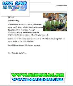 Letter to John key
