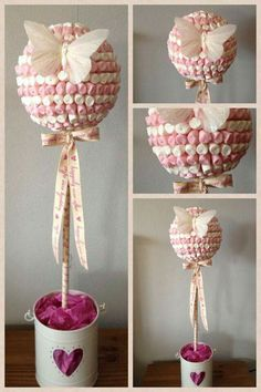 Discover thousands of images about Cupid's Candy Cart MK Marshmallow Tree, Candy Trees, Sweet Trees, Candy Cart, Butterfly Party, Butterfly Tree, Chocolate Bouquet, Candy Bouquet, Lollipop Bouquet