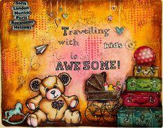 JIJI Cards - Art Journal Page 4: Travelling #babyartjournal