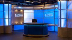 sexy broadcast studio design for the United States Census Bureau