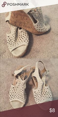 Mudd Wedges Size8 wedges. Very comfortable and will match almost anything. Mudd Shoes Wedges