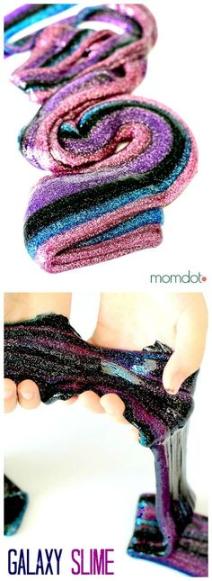 Nebula Slime : make gorgeous Nebula Slime that sparkles with beautiful colors, kids and adults will both ADORE this slime recipe, beautiful and fun #slime