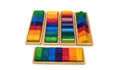 Grimm's Large Shapes & Colors Building Set, Part 1 – Colorful Wooden Blocks in 5 Geometric Forms… Grimm's Toys, Wood Block Crafts, Wooden Wagon, Natural Toys, Woodworking Toys, Waldorf Toys, Kids Wood, Montessori Toys, Toys Shop