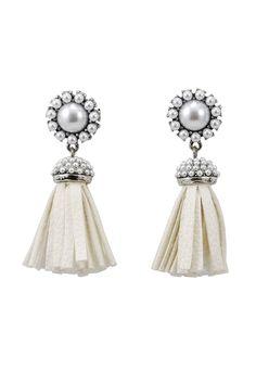 Sasha Silver Fringe Earrings Fringe Earrings, Pearl Earrings, Winter White, Pearls, Silver, Jewelry, Fashion, Pearl Drop Earrings, Jewellery Making