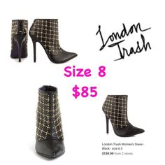 """London Trash Gold Studded Booties These are genuine  leather London trash """"(Diane's) they retail $159.99 New never worn but i dont have tags or box outside...only to try on London Trash Shoes Ankle Boots & Booties"""