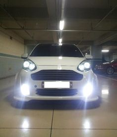 Kia Picanto car modification LED white Color pictures