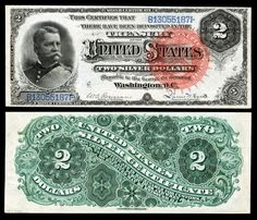 "Paper Money of the United States: 1886 Two Dollar Silver Certificate Hancock Note, Red Seal Silver certificates were first printed for the two dollar denomination in 1886. These notes are called ""Hancock"" notes by collectors because 1886 $2 bills feature the portrait of General Winfield Scott Hancock,Union general during Civil War"
