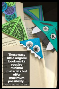 This little origami bookmark DIY has just a few easy steps and offer lots of possibility. A few easy steps and you're ready to create!