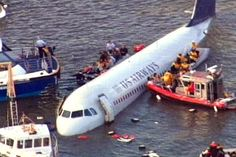 U.S. Airways plane crash in the Hudson River.amazing man that landed his plane that was in trouble.Saved them all.Just totally awesome