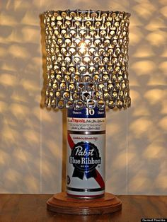 Set the mood with a homemade PBR-can lamp. | Community Post: The Completely Non-Ironic DIY Guide To Being A Hipster
