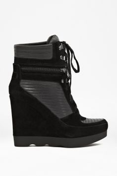 French Connection Maata Leather Wedge Trainers I must have these! Wedge Sneakers, Wedge Shoes, Cute Shoes, Me Too Shoes, Bootie Boots, Shoe Boots, Wedged Trainers, Killer Heels, Leather Wedges