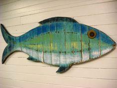 Casa de playa de muestra de pescado capeado arte de pared de