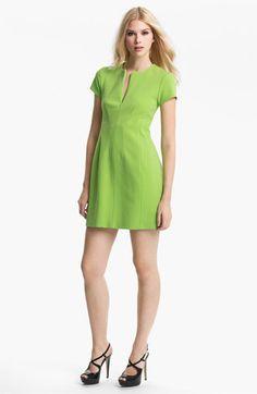 Diane von Furstenberg 'Agatha' Knit Sheath Dress available at Slice Of Lime, Diane Von Furstenberg Dress, Nordstrom Dresses, Sheath Dress, Cool Style, Dresses For Work, Knitting, Fabric, Color