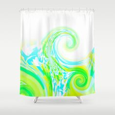 Re-Created  Tsunami THREE Shower Curtain by Robert S. Lee - $68.00