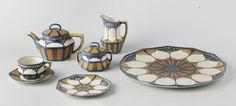 Villeroy & Boch, Tea service, 1911-12. Stoneware. Mettlach Germany. Via Rijksmuseum