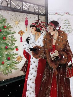 Shop Retro vintage Christmas art deco lady poster created by DoodlesHolidayGifts. Personalize it with photos & text or purchase as is! Christmas Scenes, Christmas Fashion, Christmas Pictures, Christmas Art, Christmas Decorations, Christmas Shopping, Xmas, Christmas Quotes, Christmas Ideas