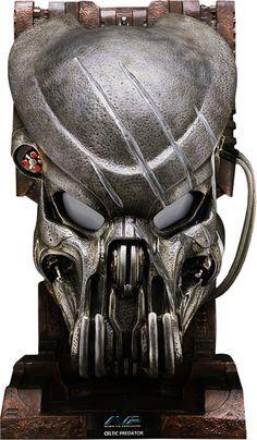 Battle Damaged Celtic Predator Mask Prop Replica