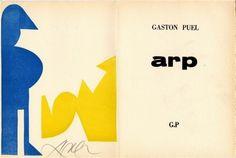 Livre Illustré -   Hans Arp - PUEL Gaston. Arp.
