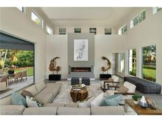 Modern living room in the Moorings | 611 Springline Dr, Naples, FL 34103 - MELINDA GUNTHER: modern naples