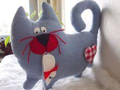 Stuffed cat Gotcha, my sweet friend, handmade toy, stuffed animal,  homedecor…