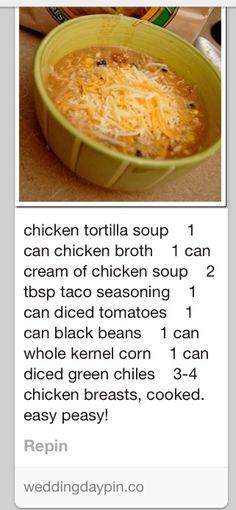 Chicken tortilla soup using cream of chicken