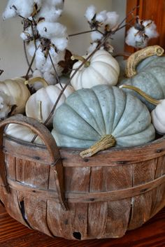 What makes you think of Autumn? The leaves turning bright hues of gold, rust and yellow? The cooler air? The fields of cott. Autumn Decorating, Pumpkin Decorating, Decorating Ideas, Decor Ideas, Fall Home Decor, Autumn Home, Thanksgiving Decorations, Seasonal Decor, Fall Decorations