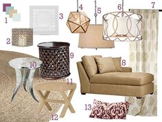 Living room inspiration - eclectic glam