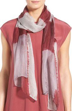 Eileen Fisher Patchwork Print Silk Scarf