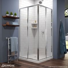 Cornerview 36 In X Sliding Shower Enclosure And Base Kit