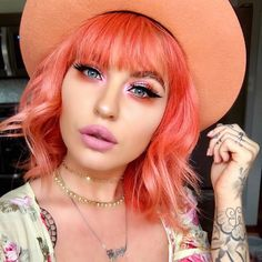 "11.2k Likes, 32 Comments - Lime Crime (@limecrimemakeup) on Instagram: "" @markiemeghan is wearing a #UnicornHair mix of Neon Peach & Strawberry Jam, faded out. Eyes:…"""