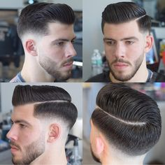 Men's Hairpiece Human Hair Toupee Wig Super Thin Skin Hair Replacement ( Off Black) Mens Hairstyles With Beard, Cool Hairstyles For Men, Hair And Beard Styles, Hairstyles Haircuts, Haircuts For Men, Straight Hairstyles, Short Hair Styles, Classic Mens Hairstyles, Barber Haircuts