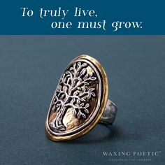 The Tree of Life collection is growing! This NEW Tree of Life Medallion Ring will be available January 27th! Stay tuned for more sneak peeks! #WaxingPoetic #CelebrateTheJourney