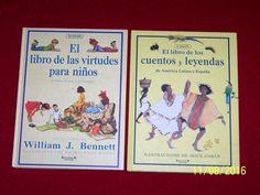 Spanish 2 Books Large Hardcover Libros Virtudes para ninos & Cuentos y leyendas