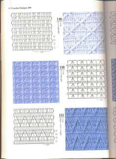 from Crochet design 200 Crochet Stitches Chart, Knitting Stiches, Crochet Motifs, Crochet Diagram, Crochet Patterns, Crochet Cable, Free Crochet, Crochet Books, Lace Doilies