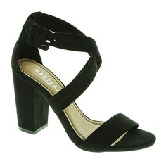Sandalia negra de tacon ancho Marypaz