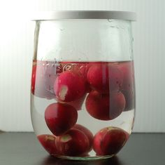 store fresh radishes in water - they keep their crunch and last longer!
