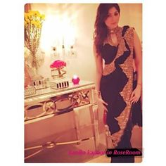 Instagram photo by roseroomcouture - Bollywood singer Kanika Kapoor in @Rose.Room saree