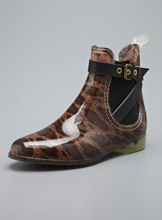 Ankle-high rain booties with some pizzazz! #LeopardPrint $20 (reg$59)