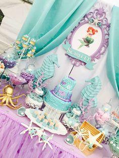 "Mermaids / Birthday ""Little Mermaid birthday party"" Mermaid Theme Birthday, Little Mermaid Birthday, Little Mermaid Parties, Mermaid Party Decorations, Girl Birthday Decorations, Birthday Party Themes, 16th Birthday, Birthday Ideas, Disney Princess Party"