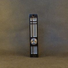 Modern Doorbell with Lighted Button by ModishMetalArt on Etsy