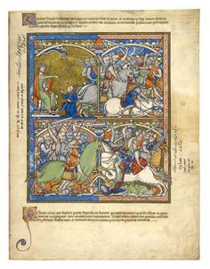 David's Wrath; The Syrians Rally and Are Defeated | Fol. 41r | The Morgan Library & Museum
