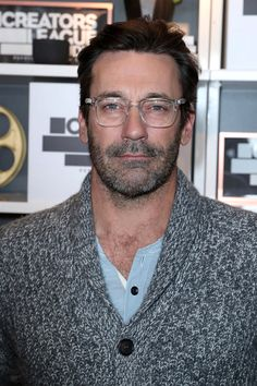 Jon Hamm attends the Creators League Studio at 2017 Sundance Film Festival in Park City, Utah.   Jon Hamm will start a fire, grab you an afghan and ma