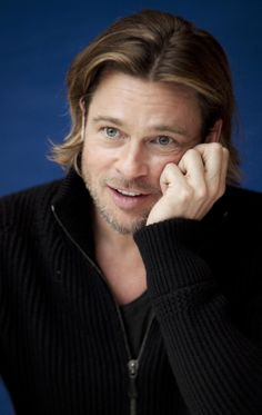 "Brad Pitt - all the time i see this photo i think he is saying ""oh... really?"" XD don't know why :) :P"